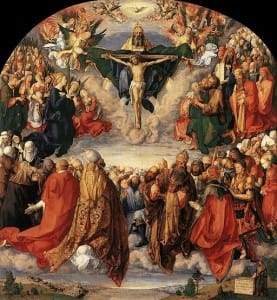 512px-Durer,_Adoration_of_the_Trinity_01