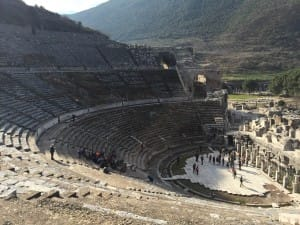 Stadium in Ephesus where armored gladiators once fought