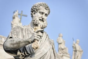 St. Peter statue in St. Peter's Square, Rome