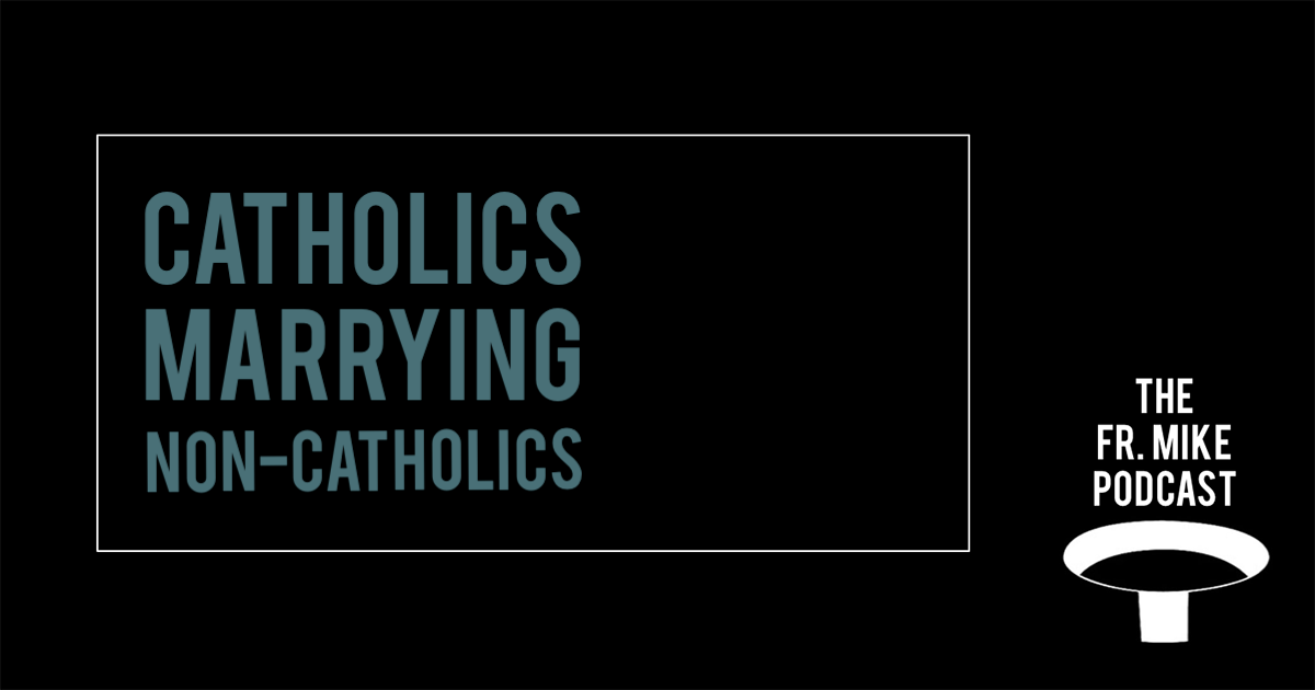 can a catholic marry a non catholic