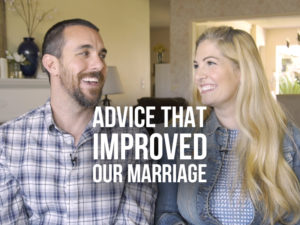 Jackie and Bobby Angel with text Advice that Improved our Marriage