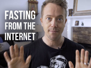 Matt Fradd with text, Fasting from the Internet
